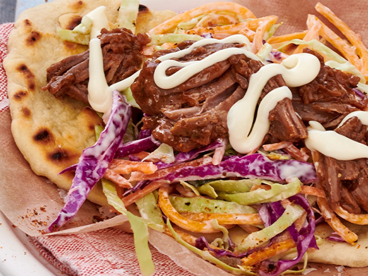 Pickled Beef with Mayo Flat Bread
