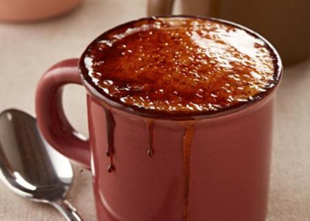 Malva Mug Pudding with Milk Tart Ice Cream