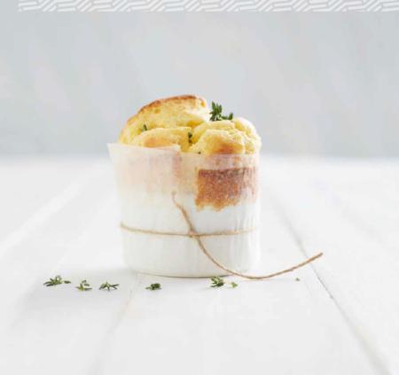 goats' cheese soufflé