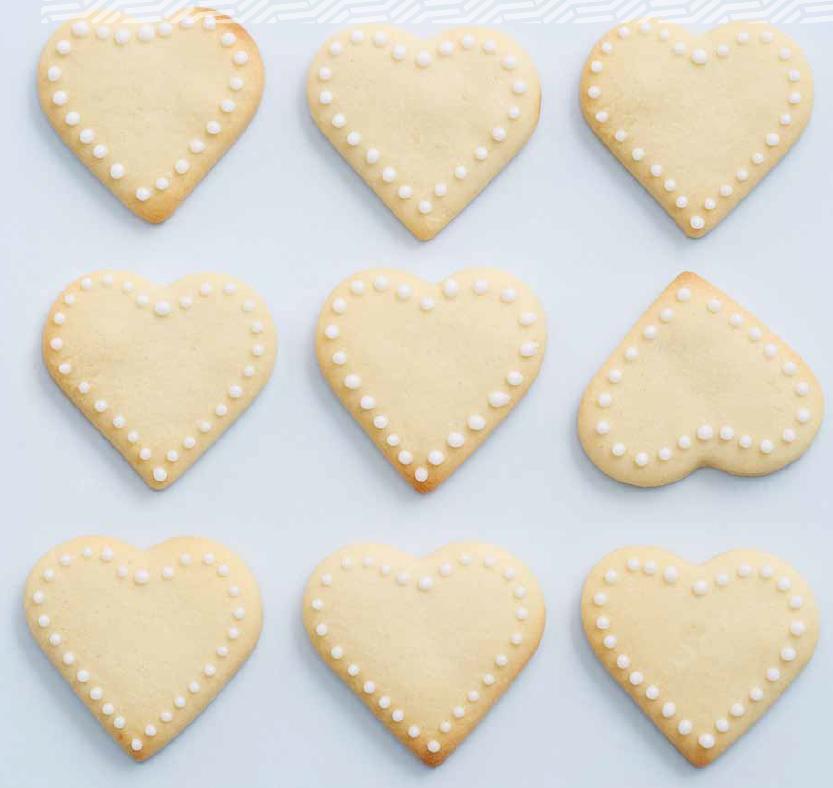 Iced Heart Cookies