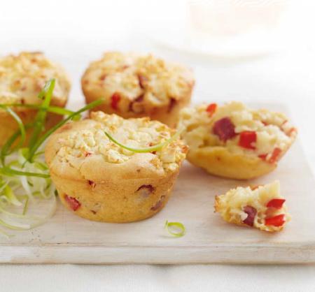 salami & feta muffins