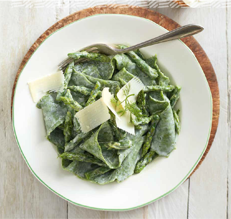 spinach pappardelle