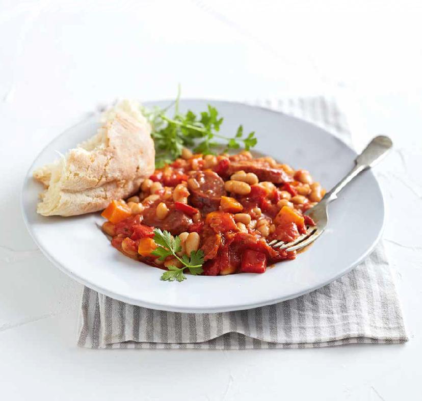 chorizo bean stew