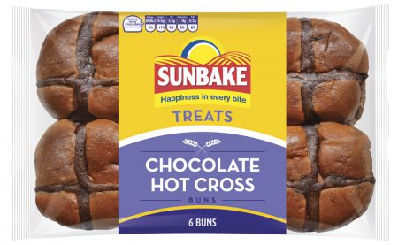 Sunbake Chocolate hot cross buns