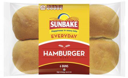 Sunbake hamburger buns