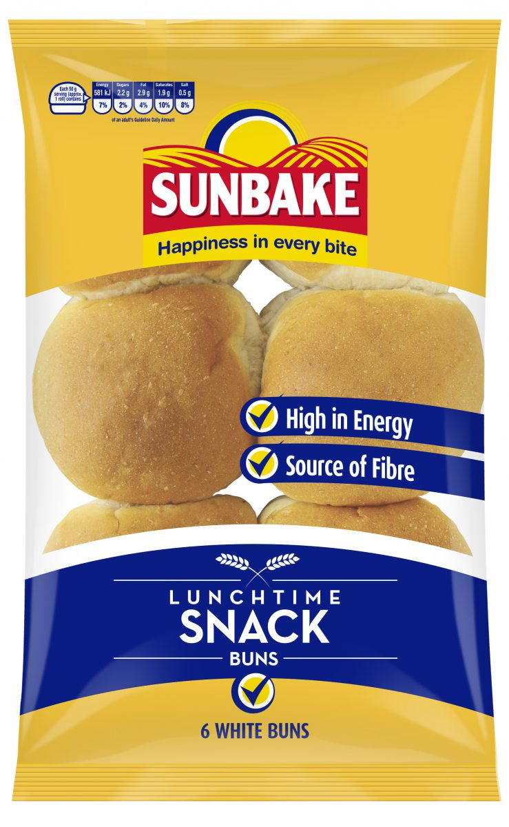 Sunbake lunchtime snack buns