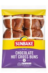 Sunbake Chocolate hot cross buns