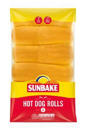 Sunbake hot dog rolls