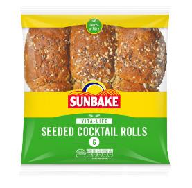 Sunbake seeded cocktail rolls