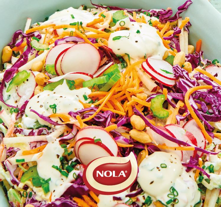 Thobeka's sweet apple and cabbage slaw