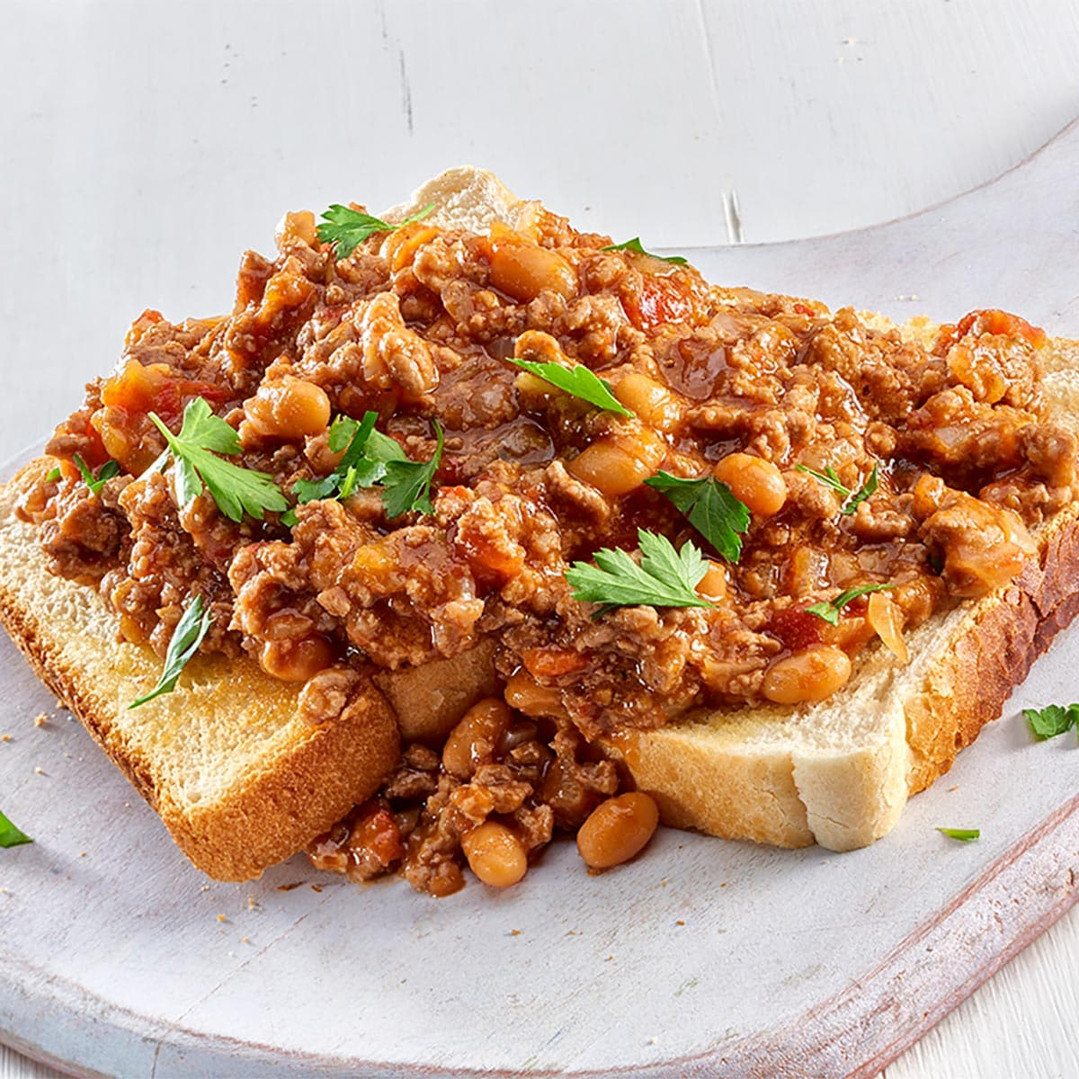 Mince and Beans on Toast