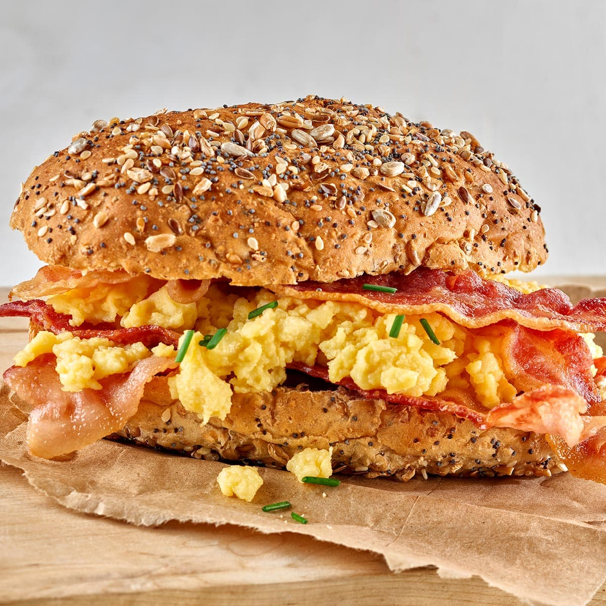 Scrambled Egg and Bacon Roll